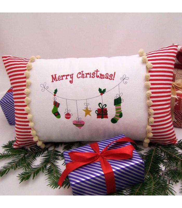 Cadou de craciun perna decorativa personalizata Merry Christmas