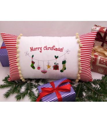 Cadou de craciun perna decorativa personalizata Merry Christmas producator Atelierele Cris  149,00Lei