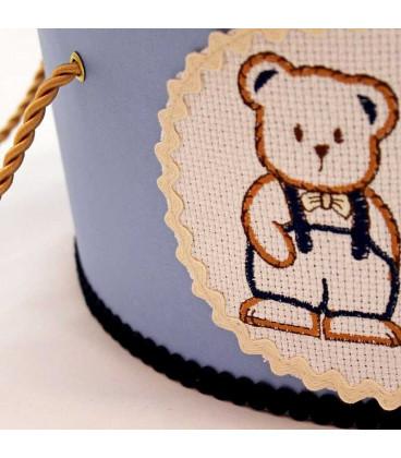 Cutie trusou botez personalizata ursulet cu papion