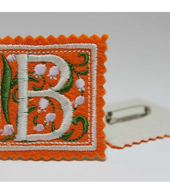 Marturie botez personalizata monograma B