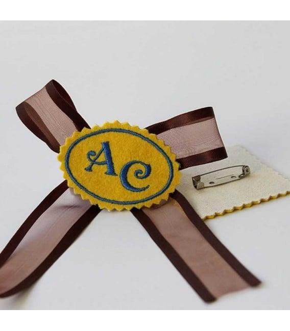 Marturie botez personalizata monograme AC