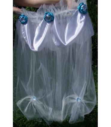 Decor cristelnita botez flori albastre producator Atelierele Cris  149,00Lei