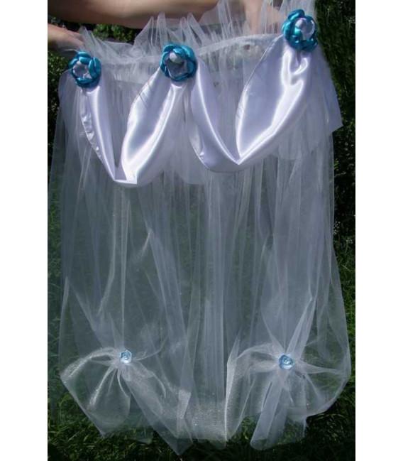 Decor cristelnita botez flori albastre