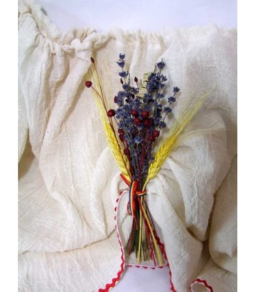 Decor cristelnita botez traditional cu lavanda