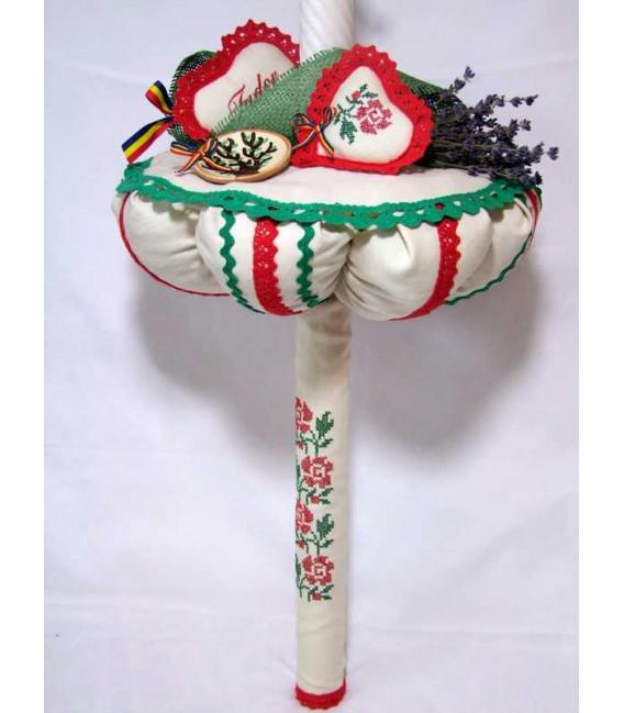 Lumanare botez traditionala ceramica Horezu