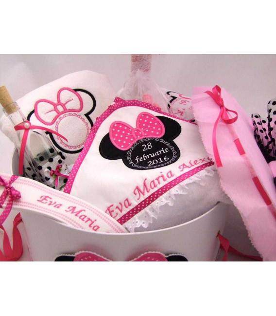 Trusou botez Minnie Mouse personalizat complet