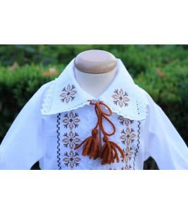 Costum traditional botez baieti stelute bej