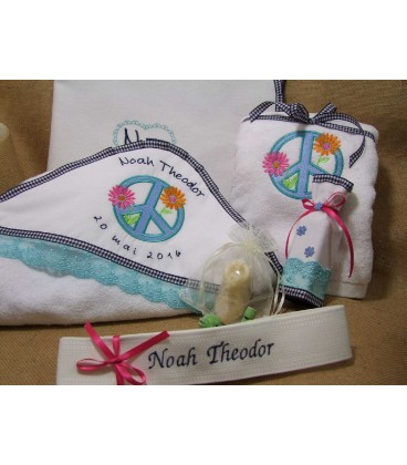 Trusou botez personalizat flower power