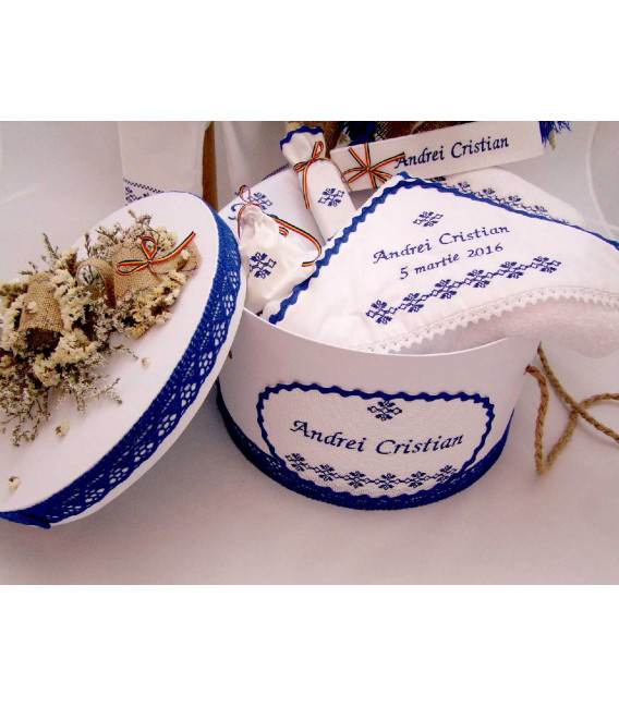 Trusouri botez traditionale - Trusou botez traditional albastru baieti sibiu
