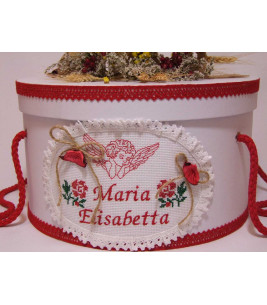 More about Cutie rotunda botez personalizata ingeras traditional