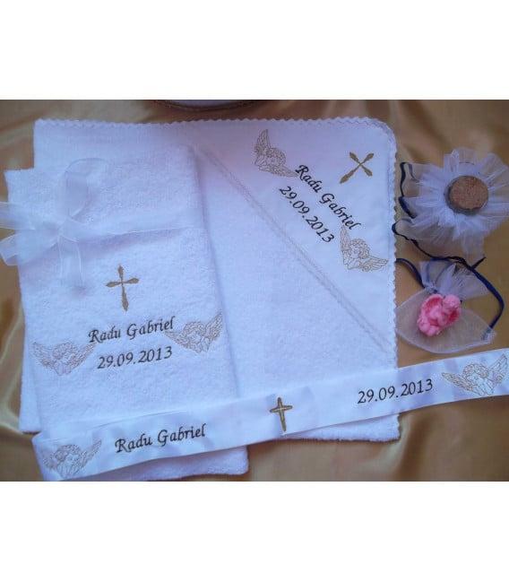 Trusou botez personalizat doi ingerasi