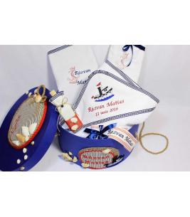 More about Trusou botez personalizat si cutie botez cu tema marina
