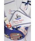 Trusou botez personalizat si cutie botez cu tema marina