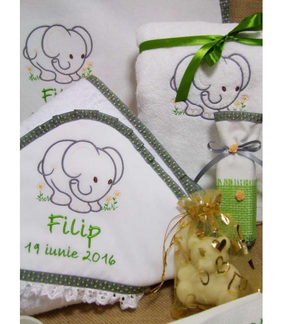 Trusou botez Elefantel verde