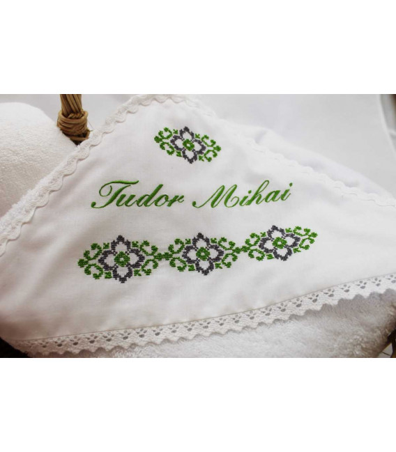 Trusouri botez traditionale - Trusou botez traditional verde si gri
