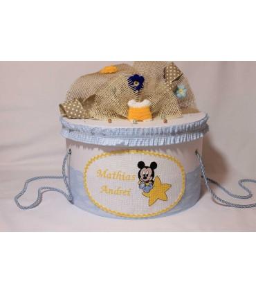 Cutie trusou botez personalizata baby Mickey Mouse