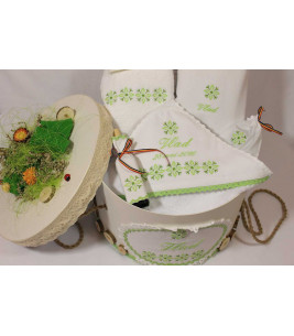 More about Trusou botez personalizat si cutie botez traditionale broderie stelute