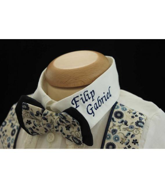 Costum botez personalizat baiat frac Luca