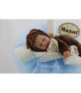 More about Lumanare botez personalizata cu jucarie bebe ursulet
