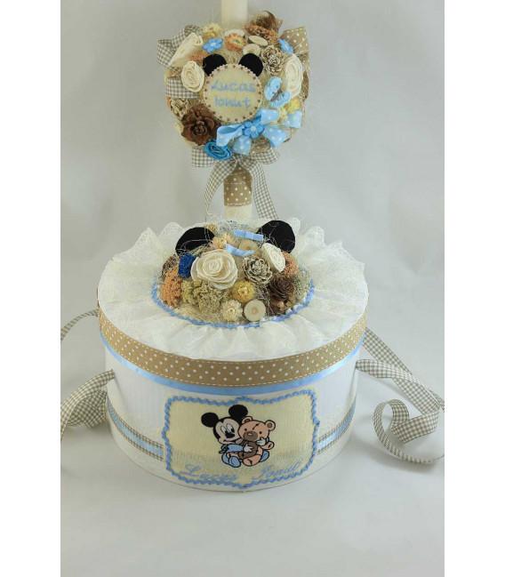 Trusou botez personalizat complet baiat Baby Mickey