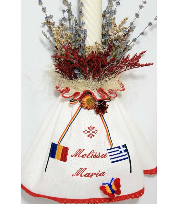 Lumanare botez traditionala Grecia Melissa