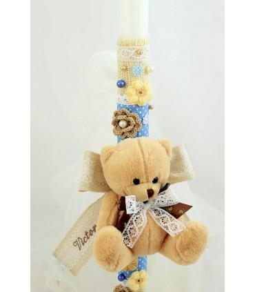 Lumanare botez personalizata baby bear