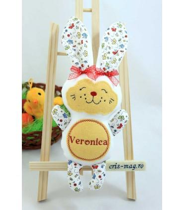 Jucarie personalizata iepuras handmade Veronica