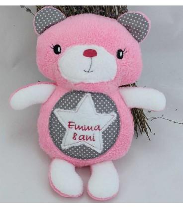 Jucarie personalizata ursulet brodat handmade Emma