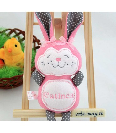 Jucarie personalizata iepuras handmade Catinca