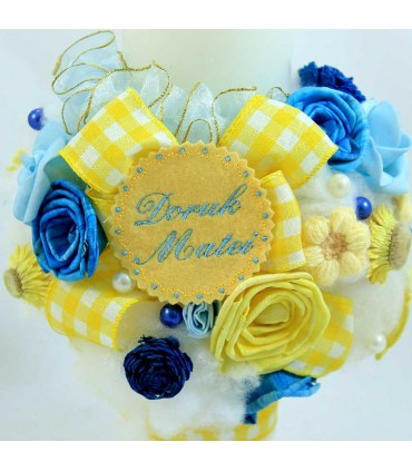 Lumanare botez personalizata Colored dream