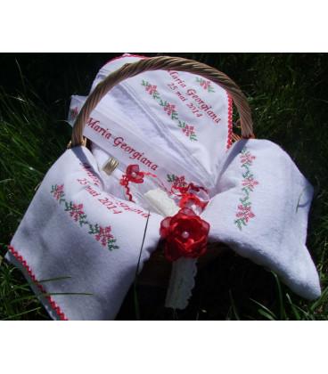 Trusouri botez traditionale - Trusou botez traditional personalizat Motive populare romanesti