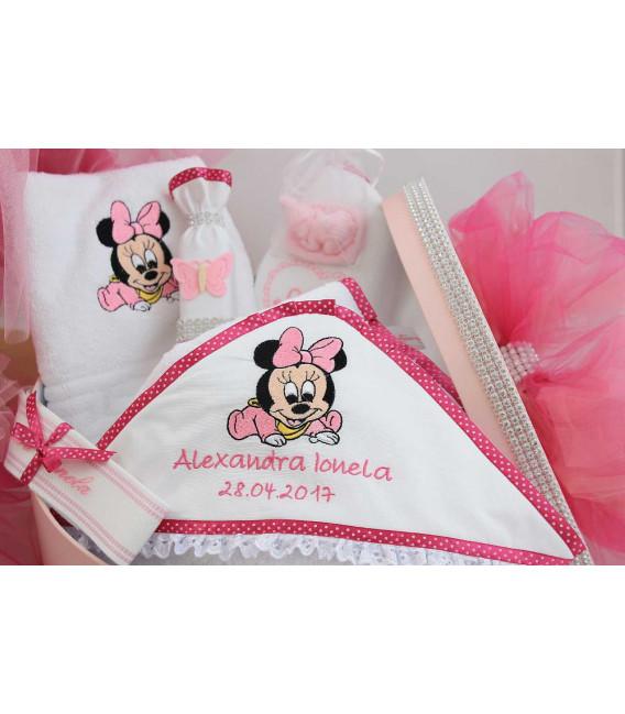Trusou botez fetite Minnie Mouse set complet