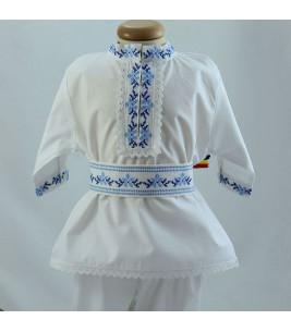 More about Costum popular botez baieti de vara culoare albastra