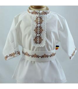 More about Costum popular botez baieti de vara culoari bej maro