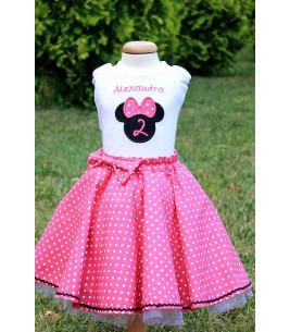 Set rochita aniversara 2 ani si papusica personalizata Alexandra