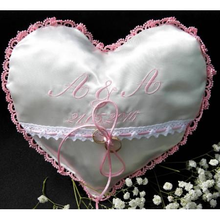 Perna verighete personalizata inimioara