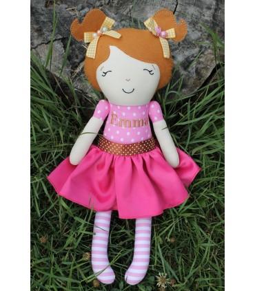 Papusa fetite Emma, personalizata plus accesorii producator Atelierele Cris  169,00Lei