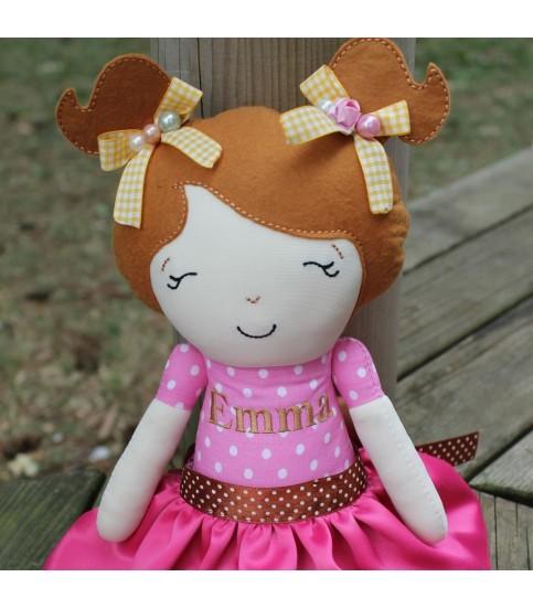 Jucarii personalizate bebelusi - Papusa fetite Emma personalizata plus accesorii