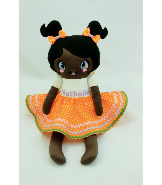 Jucarii personalizate bebelusi - Papusa fetite printesa de ciocolata personalizata plus accesorii
