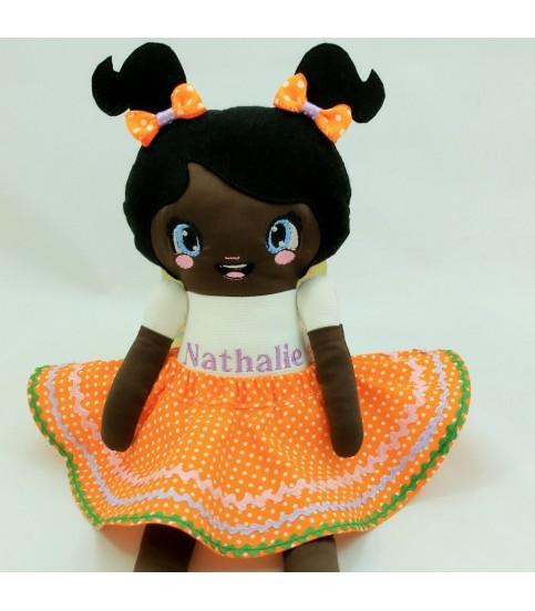 Papusa fetite printesa de ciocolata,  personalizata plus accesorii