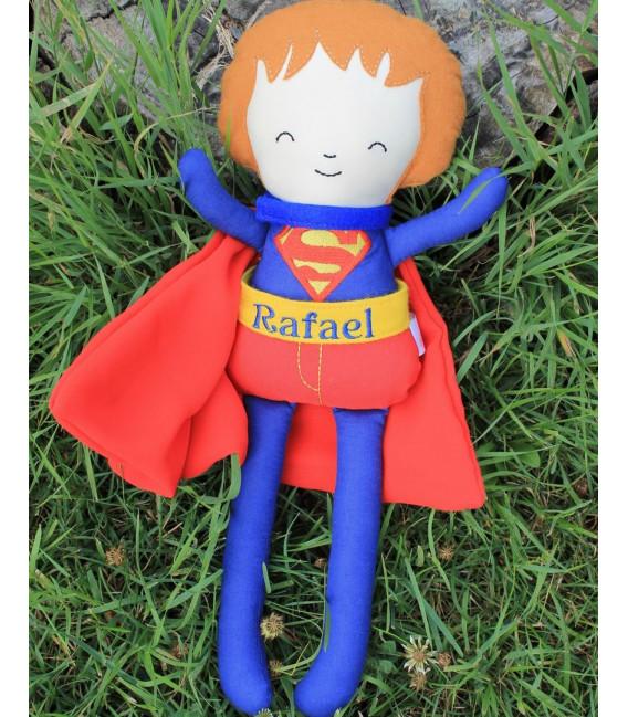 Jucarii personalizate bebelusi - Papusa baieti Superman personalizata cu numele