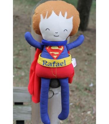 Papusa baieti Superman personalizata cu numele