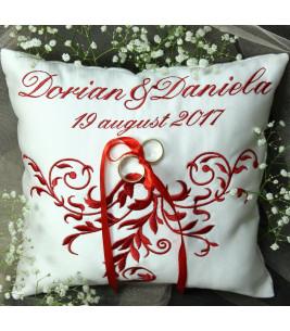 More about Perna verighete personalizata  broderie baroc - culoare rosie
