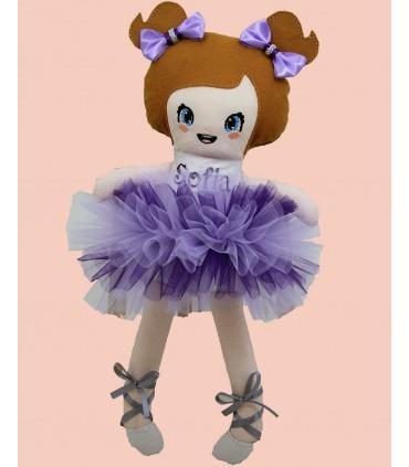 Papusa balerina, personalizata Sofia producator Atelierele Cris  169,00Lei
