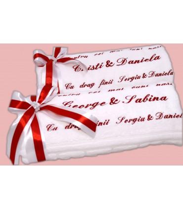 Set doua prosoape personalizate - Cadou pentru nasi
