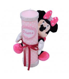 More about Lumanare botez scurta cu jucarie Minnie Mouse