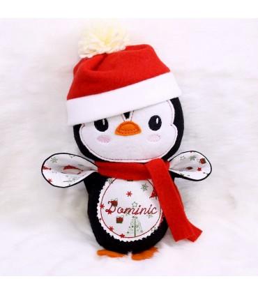Jucarie personalizata pinguinul Mos Craciun