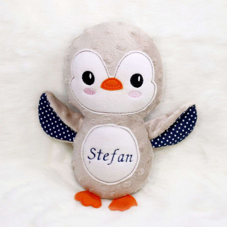 Jucarii personalizate bebelusi - Jucarie personalizata cadou pinguinul Stefan