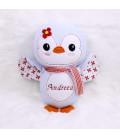 Jucarie personalizata cu nume model pinguin Andreea