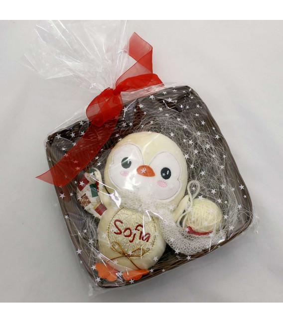 Jucarii personalizate bebelusi - Cadou Craciun jucarie personalizata pinguin Sofia